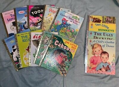 Little Golden Books Lot of 10 Mixed Titles Plus 4 Free Books!