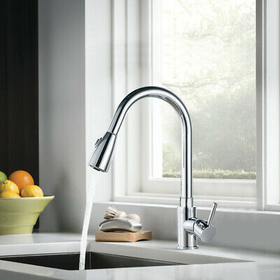 360 ° Sink mixer Pull-out Spray Single-lever Mixer Sink Faucet Kitchen Bath NEW