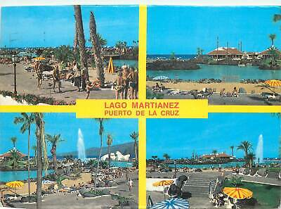 Spain Multi view lago martianez puerto de la cruz Postcard