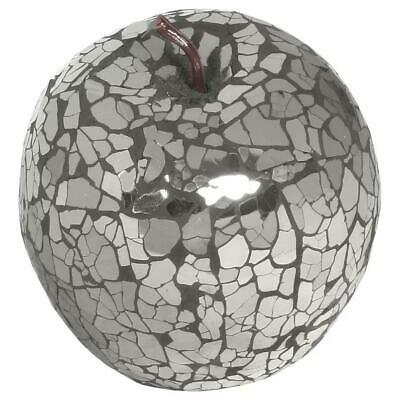 World Menagerie Mosaic Apple Ornament Black (Set of 6)