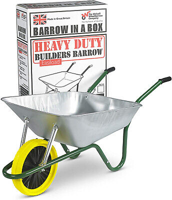 Wheelbarrow - 85L Galvanised Puncture Proof - Barrow in a Box