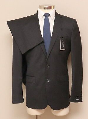 New w/ Defects Mens 40R Kenneth Cole 2 Piece Charcoal Wool Blend Suit