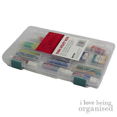 Bead Craft Box Thin Organiser Utility Storage Creative Options