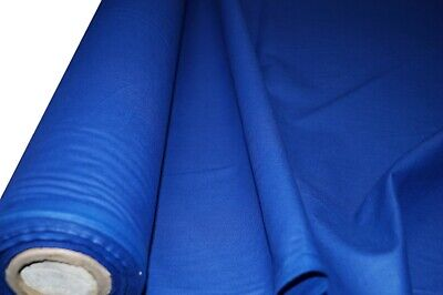 """100% Royal Blue Cotton Fabric Plain Sheeting Crafts Quilting 150cm / 60"""" Wide"""