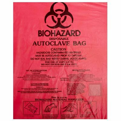 Bel-Art, F13166-0000, Biohazard Bag,HDPE,Red, 8.5 X 11 x 0.018in (Box 100)