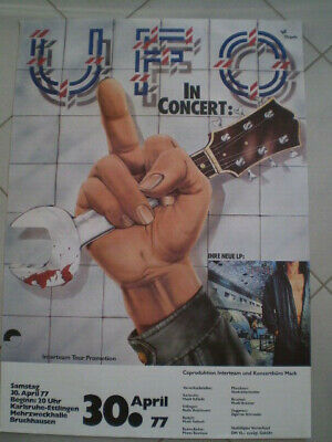 Ufo Live in Concert, Plakat, Poster, Tour, 1977,