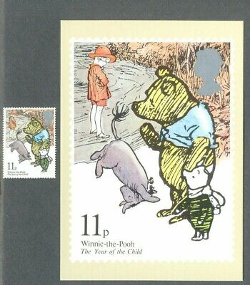 Winnie the Pooh-Great Britain stamp + Official postcard-mint condition-1979