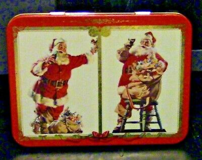 Coke Branded Tin with Two Sets of Coke Branded Playing Cards
