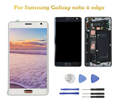 For Samsung Galaxy Note Edge N915P N915V LCD Touch Screen Digitizer Frame New BT