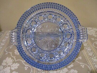 Indiana Glass Blue Glass Split Relish Dish (1pc)