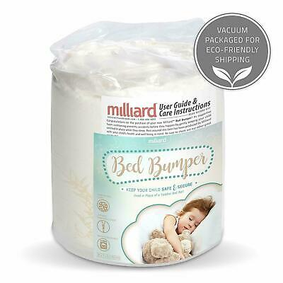 Milliard Bed Bumper (1 Pack) Foam Safety Rail Guard with Non-Slip Hypoallergenic