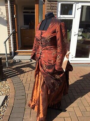 Victorian Polonaise Walking Suit 44 Inch Bust 36 Inch Waist