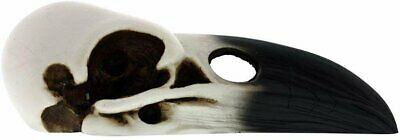 YTC White and Black Raven Bird Skeleton Skull Halloween Décor Statue