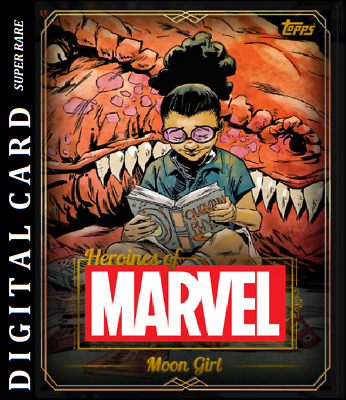 Topps Marvel Collect Card Trader Heroines Of Marvel Gold - Moon Girl