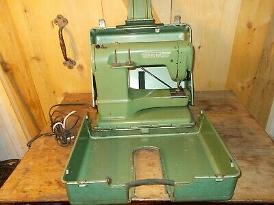 Vintage Elna Supermatic Sewing Machine with Portable Case