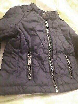 River Island mini Boys Quilted navy blue  Jacket age 0-3mths