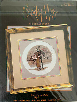P Buckley Moss - The Engagement -- Cross Stitch Pattern/Chart