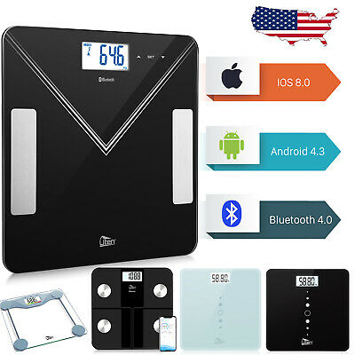 400lb Bathroom Baby Digital Electronic Glass Weighing Body Weight Scale Round US