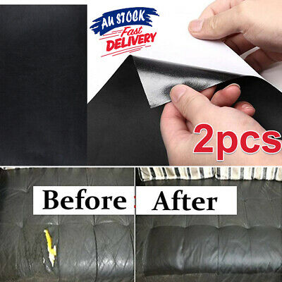 2PCS Car Seat Furniture Leather Repair Kit Sofa Patch Filler Couch Upholstery