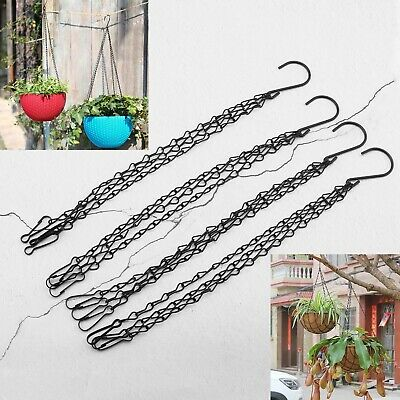 Hanging Flower Basket 12 Inch Chain 3 Point Garden Plant Hanger Pot Chains 4pcs