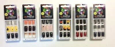 Kiss Impress Press-on Manicure Limited Edition Halloween 30 Nails Choose Style