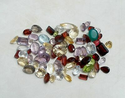 100 Carat Natural Gemstone Mixed Faceted Loose Parcel Lot ready to make jewelry