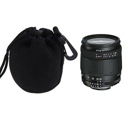 Camera Neoprene DSLR Lens Pouch Soft Protector Case Bag For Canon Nikon Sony