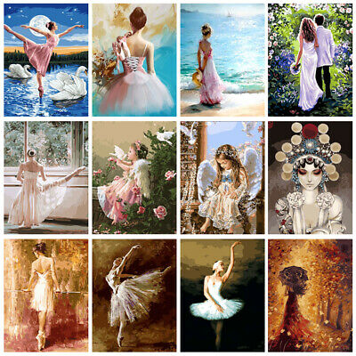DIY Paint By Number Kit Digital Oil Painting Home Wall Decor Ballet Beauty Angel