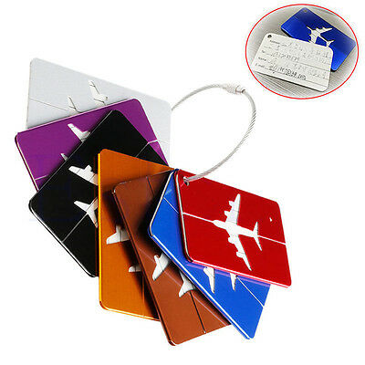Travel Luggage Bag Baggage Aluminium Tag Suitcase  Address Id Secure Label AU