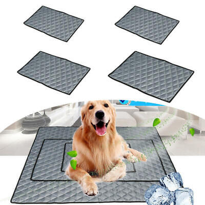 Pet Cooling Mat Gel Pad Non-Toxic Cool Cooling Bed for Summer Dog Cat Pup CIL