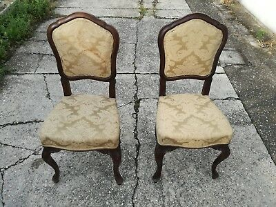 Pair of Chairs Luigi Filippo End '800 in Nut Armchairs Chairs Chair Seat