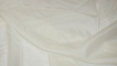 Premium Quality Cream Voile Curtain Net Fabric Wedding Decor Drapes 150cm Wide