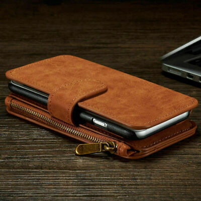 Case For iPhone models Zip Coin Purse Card slot Flip Leather Wallet Phone Cover