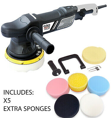 Professional Dual Action Car Polisher Buffer Includes 5x Extra Polishing Pads