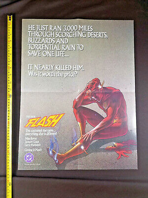 The New Flash 1986 DC Comics Promo Poster