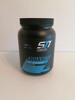 Sj7 enhance pre workout drink for energy focus and muscle pump. Lemon & lime