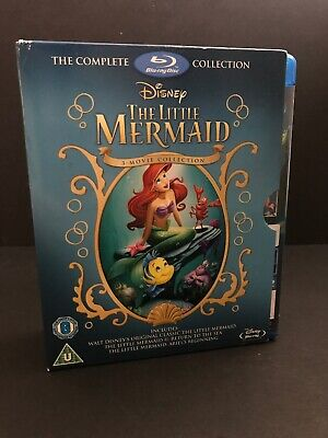 Disney The Little Mermaid Trilogy Collection (Blu-ray 3 Discs Region Free) Ariel