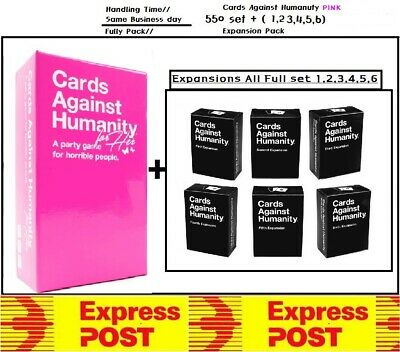 Cards Against Humanity AU Version 1.7 Main Base + All Expansion 1~6 Express Post