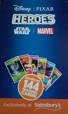 Sainsbury's Disney Marvel Heroes Trading Cards choose any 12 from list for £1.99