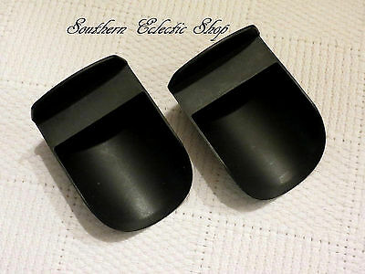 2 - Tupperware Rocker Scoops for Canisters Modular Mates Flour Sugar Beans Black