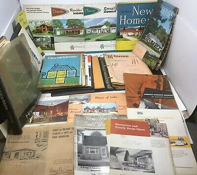 1940s-1960s New Home Design Plans Booklet Lot Mid Century Modern