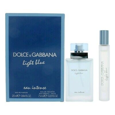 Light Blue Eau Intense by Dolce & Gabbana, 2 Piece Gift Set for Women