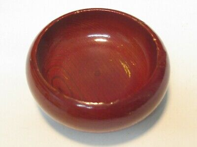 Wooden Trinket Bowl Made From California Redwood Tree Very Good Condition!!!!!!!