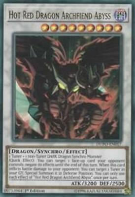 Yugioh Hot Red Dragon Archfiend Abyss DUPO-EN057 Ultra Rare 1st/Unl Edition NM