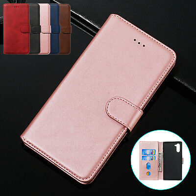 For Samsung Note10 Plus S9 S8 Case Luxury Magnet Leather Wallet Card Slot Cover