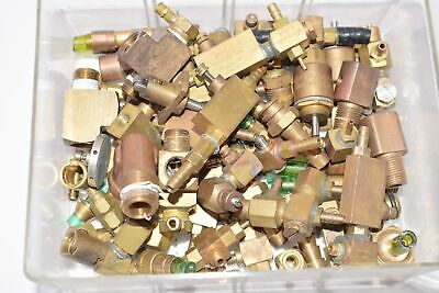 Mixed Lot of Clippard Flow Control Valves, Brass, 2LB 6 Oz