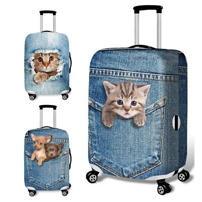 Travel Luggage Suitcase Protective Cover Elastic Dust proof Dog Cat 18-32inch