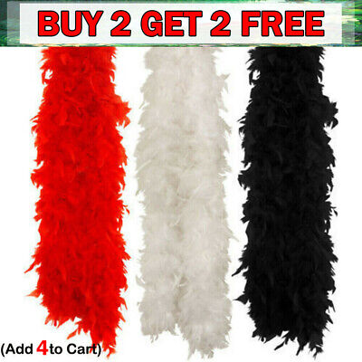 2M Feather Boa Strip Fluffy Craft Costume Dressup Wedding Party Flower Decors RR