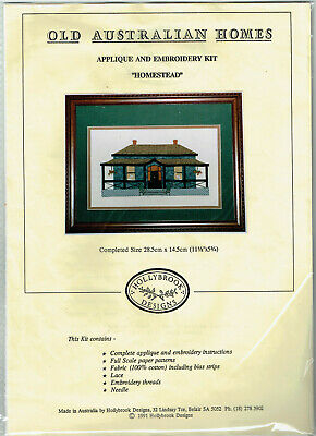 Applique & Embroidery Kit ~ Old Australian Homes, 'Homestead'