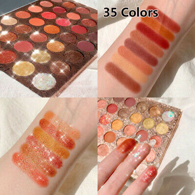 1x 35 Colors Eyeshadow Palette Matte Pearlescent  Shimmer Glitter Eyeshadow Hot